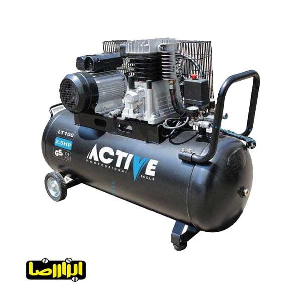 پمپ باد اکتیو 100 لیتری مدل AC-10100BL