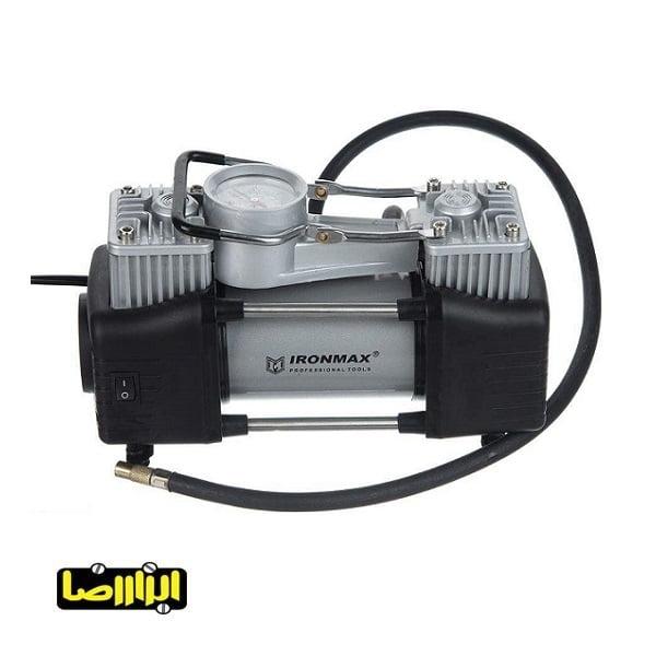 پمپ باد فندکی آیرون مکس دو سیلندر مدل IM-AC55C