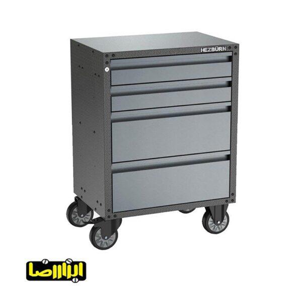 جعبه ابزار چرخ دار کشویی هزبرن مدل 1404BG