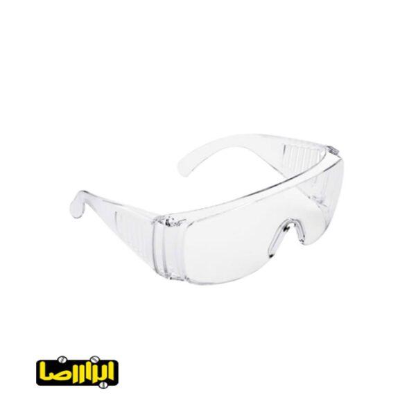 عینک ایمنی تک پلاست مدل کرکره ای سفید