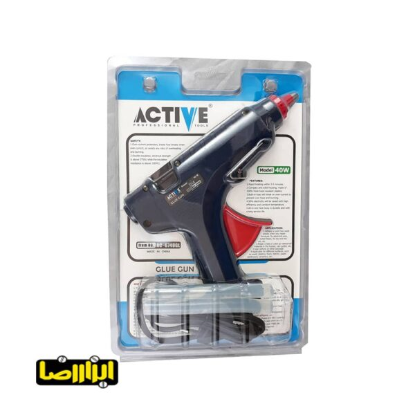تصویر تفنگ چسب حرارتی اکتیو 40 وات مدل AC-6740GL