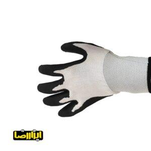 دستکش کف موادی سیاه سفید