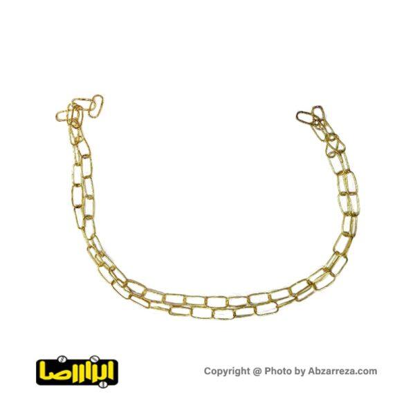 زنجیر لوستر طلایی غیر جوشی سایز 3.5